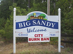 Big Sandy, Texas - A burn ban was declared in Big Sandy in the summer of 2011.