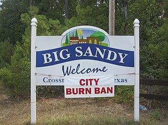 Big Sandy, Texas - A burn ban was declared in Big Sandy in the summer of 2011.