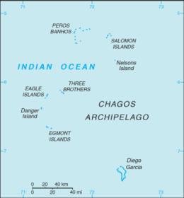 Territorio britannico dell'Oceano Indiano - Mappa