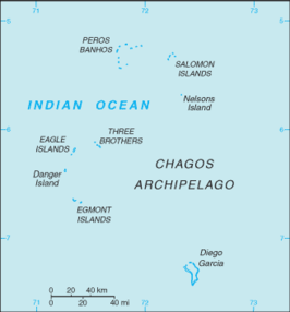 Kaart van British Indian Ocean Territory
