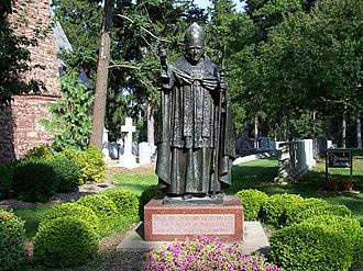Bernard John McQuaid - Statue of McQuaid in Holy Sepulchre Cemetery (Rochester, New York)
