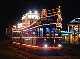 Tramvai luminat în Blackpool