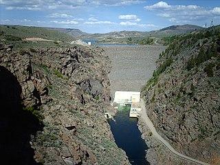 Blue Mesa Dam Dam in Cimarron, Gunnison County, Colorado, USA