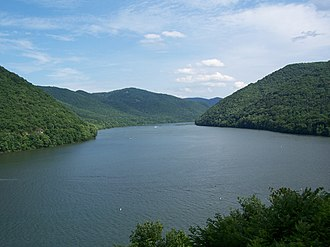 Bluestone State Park - Bluestone Lake near the state park marina.