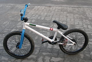 BMX bike off-road sport bicycle used for racing and stunt riding