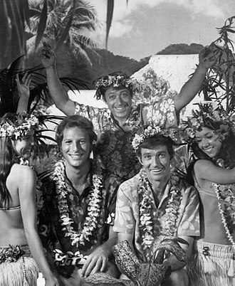 Steve Franken - Bob Einstein, Franken (center standing), and Robert Hogan in an unsold 1970 television pilot