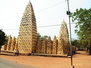 Islam in Burkina Faso - Grand Mosque in Bobo-Dioulasso, Burkina Faso