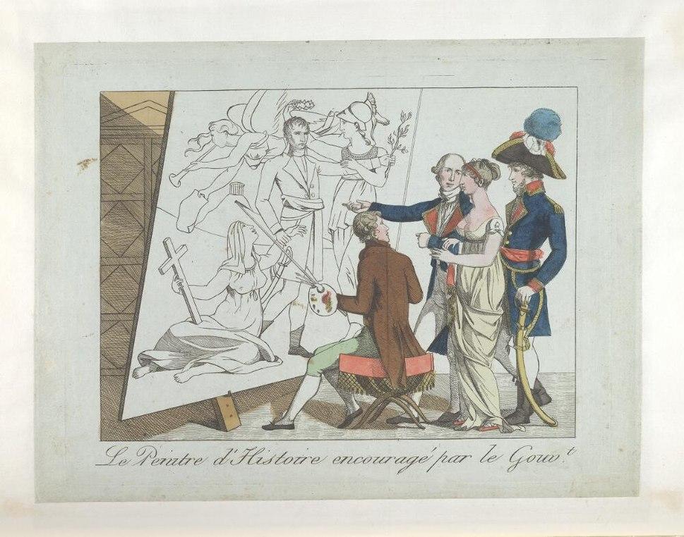 Bodleian Libraries, Le peintre d'histoire encouragé par le gouvt