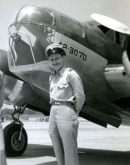 Jhr. Bodo Sandberg op de Royal Netherlands Military Flying School in Jackson, Mississippi, VS, 1943