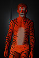 Bodypainted Tiger Human Statue Bodyart (8273546175).jpg