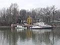 Bogi (ship, 1961), Csaba (ship, 1967) and DOKK-1 floating workshop, Winter harbour, Újpest Bay, 2018 Angyalföld.jpg