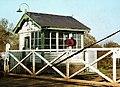 Boilie signal cabin ^ gates - geograph.org.uk - 2409690.jpg