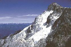 El Pico Bol�var, por su altura, ostenta las más bajas temperaturas del pa�s.