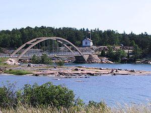 Bomarsund Bridge - Image: Bomarsund Bridge Sund Finland
