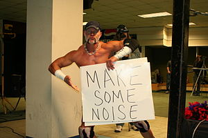 Lodi (wrestler) - Lodi in 2011 holding one of his signature signs.