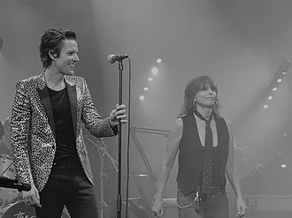 Brandon Flowers - Flowers and Chrissie Hynde of The Pretenders in 2015