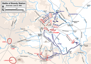 Battle of Brandy Station - Image: Brandy Station Overview