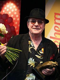 Brasse Brännström efter at have fået Lisebjergapplausen 2013.