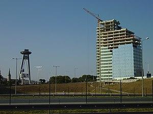 Aupark Tower and Nový most, Bratislava