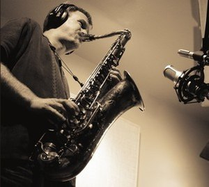 Brent Gallaher - Image: Brent Gallaher in studio recording Lightwave project