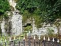 Brick Facade with Gate Spires - Ironbridge - Shropshire - England (28098127302).jpg