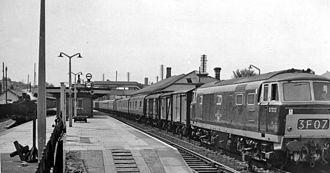 Bridgend railway station - The station in 1962