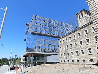 Don Jail - The Don Jail being renovated in 2013, with the new Bridgepoint Health hospital immediately to the west