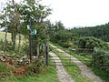 Bridleway crosses track. - geograph.org.uk - 565043.jpg