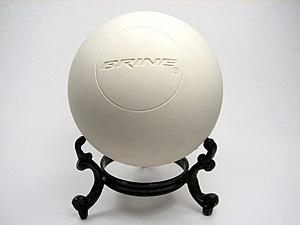 A Brine lacrosse ball.