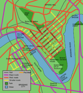 Brisbane map of city cbd.png