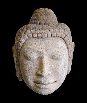 Dvaravati - Buddha, art of Dvaravati period, c.9th century