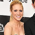 Brittany Snow with the LG Electronics Kompressor Vacuum on 25th Spirit Awards Blue Carpet held at Nokia Theatre L.A. Live on March 5, 2010 in LA (cropped).jpg
