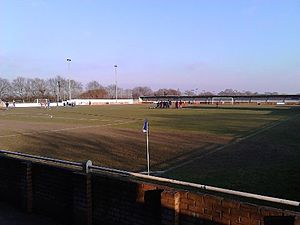 Wivenhoe Town F.C. - The pitch at Broad Lane