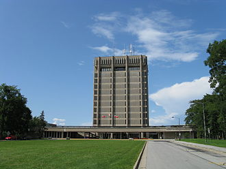Brock University - Arthur Schmon Tower seen from the south in 2008.