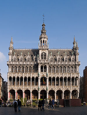 Grand Place - The Museum of the City of Brussels located in the Maison du Roi (King's House), or Broodhuis (Breadhouse).