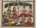 Brooklyn Museum - Akrura Speaks to the Cowherds Page from an Unidentified Hindu Manuscript.jpg