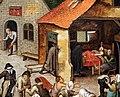 Bruegel il giovane, opere di misericordia, 1600-50 ca. 05.jpg