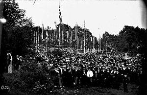 Bygdøy Royal Estate - Image: Bryllupsfest på Bygdø kongsgård i 1869 OB.OT072