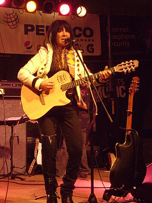 Buffy Sainte-Marie - Buffy Sainte-Marie playing the Peterborough Summer Festival of Lights on June 24, 2009
