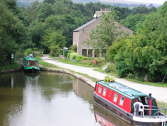 Peak District - The Bugsworth Basin on the Peak Forest Canal.