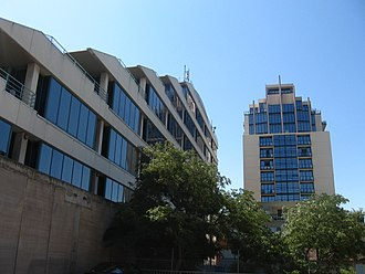 Moonee Ponds, Victoria - The Australian Taxation Office and Mondo Apartments, significant buildings in Moonee Ponds