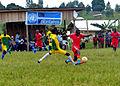 Bunia, District d'Ituri, Province Orientale. Les Volontaires des Nations Unies de Bunia ont organisé ce samedi 11 avril 2015 un match de football à destination des enfants des communautés locales voisines. (17208889505).jpg