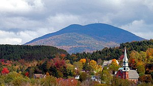 Burke Mountain (Vermont) - Burke Mountain from Lyndonville