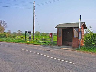 Little Stainton - Image: Bus stop at Little Stainton geograph.org.uk 167529