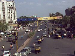 Busy Udhna-Navsari Corridor near Khavarnagar Junction