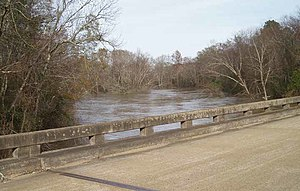 Buttahatchee River - A bridge crossing of the Buttahatchee River in Monroe County, Mississippi
