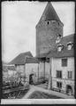 CH-NB - Estavayer-le-Lac, Château Chenaux, Tour principale, vue partielle extérieure - Collection Max van Berchem - EAD-6882.tif