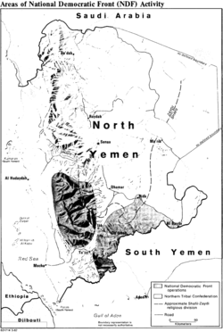 CIA map of NDF activity in North Yemen.png