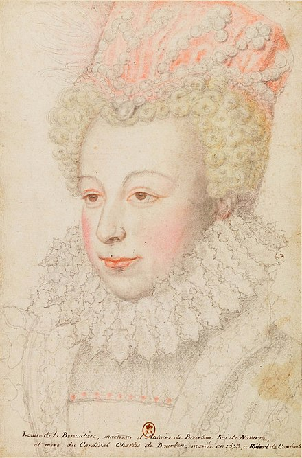 "Margaret, Queen of Navarre. Portrait by Francois Clouet, c. 1572. Don John of Austria came to French court only to see her. Later he proclaimed ""The beauty of that princess is more divine than human, but she is made to damn and ruin men rather than to save them."" CLOUET MARGUERITE DE VALOIS.jpg"