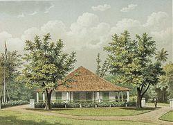 COLLECTIE TROPENMUSEUM De woning van de assistent-resident in Sumedang TMnr 3728-816.jpg